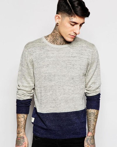 Neck Melange Jumper